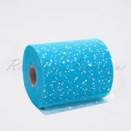 Turquoise Sequin Heart Tulle Roll